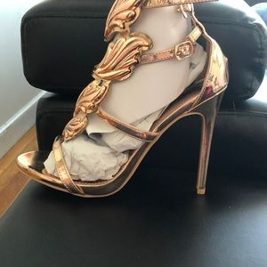 4153b1f41e5 Windsor Shoes - Windsor Rose Gold Winged Goddess Heels